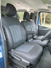 Opel Vivaro Crew Cab 6 Seater Van Seat Covers-Diamond stitched