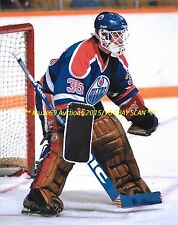 ANDY MOOG Defends HIS NET 8x10 Photo EDMONTON OILERS Star GOALIE~@@