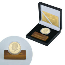 WR US President John F Kennedy Gold Coin 1964 Half Dollar /w Base in Gift Box