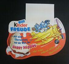 """Original Palettenanhänger """"Happy Hippo Hochzeit"""" Deutschland 1999 Maxi Ei"""