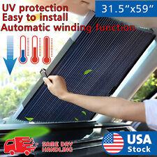 Aluminum Foil window visor Retractable window car front windshield Sun Shade