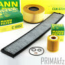 Mann Filter Kit Package Oil Filter+Air Filters+ Pollen BMW 3 Series