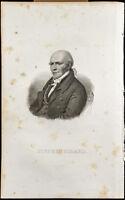 Porträt (1834) - Stephen Girard (Stephen Girard) - Philadelphia - Gravur