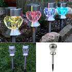 Solar Powered 7 color change LED Light Stainless Steel Outdoor Yard Garden Lamp