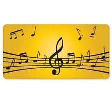 """LOVE OF MUSIC sheet music car bumper sticker 5"""" x 3"""""""