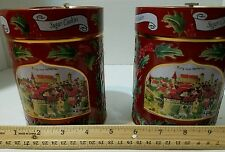 Reduced ~ Set of 2 Lambertz Germany Aachen Tin w/Music Box Lid ~ Jingle Bells