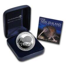NEW ZEALAND 2008 UNCIRCULATED 1 OZ SILVER PROOF $1 KIWI COIN, RARE!!!!