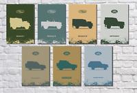 Land Rover driving off road yfs0022 Art Imprimer A4 A3 A2 A1