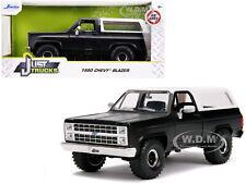1980 CHEVROLET BLAZER K5 OFF ROAD MATT BLACK & WHITE 1/24 DIECAST CAR JADA 31590