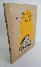 1925 Plans For CONCRETE HOUSES by Portland Cement Association, Illustrated