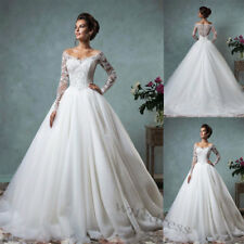 Plus Size Wedding Dress Ball Gowns White Ivory Off Shoulder Long Sleeves Custom