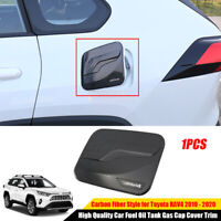 For 2019 2020 Toyota RAV4 Car Fuel Oil Tank Gas Cap Cover Trim Carbon Fiber ABS