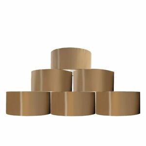 6 Strong Brown Buff Parcel Packaging Packing Tape 48MM x 72M Box Sealing Rolls