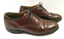 Hanover Shoes Mens Size 10 D Brown Cap Toe Oxford Business Formal Dress
