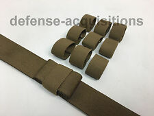 "10 Pack 1.5"" Mil-spec Elastic Webbing Strap Keepers Tactical COYOTE Brown"