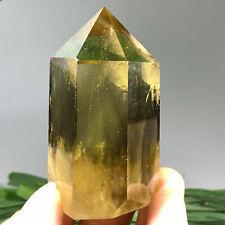 190g Natural smoky citrine quartz obelisk crystal wand point healing