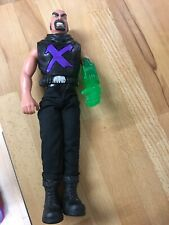 Hasbro 1998 Action Man Evil Dr X with green arm - evil laugh