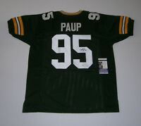 PACKERS Bryce Paup signed custom green jersey JSA COA AUTO Autographed Green Bay