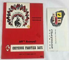 Cheyenne Frontier Days 69th Annual Souvenir Program + Official Program 1965 +