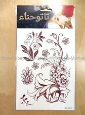 *US SELLER*Fake Tattoos party favor brown mehndi henna Tattoo temporary tattoo