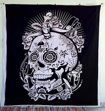 Skull Of Head Wall Hanging Decor Helloween Wall Tapestry Bohemian Throw Art Deco