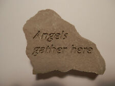 "Garden Stone - ""Angels Gather Here"""