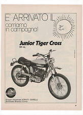 Pubblicità 1972 JUNIOR TIGER CROSS GARELLI MOTO MOTOR advert werbung publicitè
