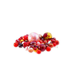 All 1 Colour Red - Toypost Hand Picked Glass Marbles