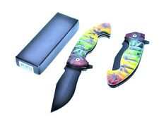 """8.5""""  STILETTO SPRING OPEN ASSISTED TACTICAL FOLDING POCKET KNIFE"""
