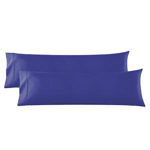 Body Pillowcase - 2 Microfiber Pillow Case -Body Pillow Size 20x54, Royal Blue