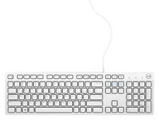 New Dell USB Wired Multimedia Desktop Keyboard English Model KB216 - White