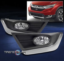 2017-2018 HONDA CR-V CRV BUMPER FOG LIGHTS LAMP CHROME W/BULB+WIRING HARNESS KIT