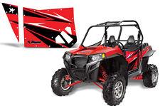 AMR RACING DOOR GRAPHIC KIT BLINGSTAR DOORS POLARIS RZR 570/800/900 XP RZR-S RED