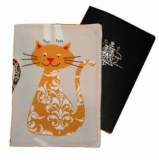 PASSPORT COVER/FOLDER/WALLET - YELLOW CAT made by Graggie Australia*GA