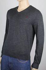 Polo Ralph Lauren Custom XX-Large XXL Grey Wool Sweater Burgundy Pony NWT