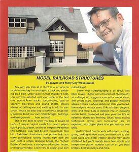 MODEL RAILROAD STRUCTURES: Wood, Cardstock, Paper, Plastic, Plaster - (NEW BOOK)