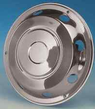"""2 x 17.5"""" MAN Front wheel trims hub caps covers stainless steel"""
