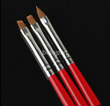 3 pcs Acrylic UV Gel Painting Polish Brush Pen Dotting Nail Art Tool Set FR
