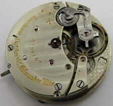 Quality pocket watch movement 17 j. HC for parts ... Rosenkrans & Thatcher, WI