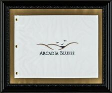 Arcadia Bluffs Course Golf Flag - Framed Michigan Links Golf Masterpiece
