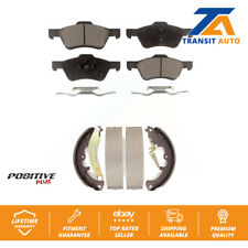 Front Rear Semi-Metallic Brake Pads And Drum Shoes Kit For Ford Escape Mercury