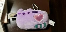 Gund Pusheen Plush Pastel ID  Case Purple  + Notebook Lot Brand New with Tags