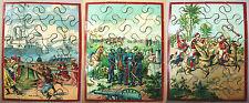 Jeu ancien fin XIXème Trois puzzles double face - Napoléon III - 3è République