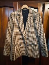 Zara Brown Check Blazer Size L AU10-12