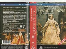 LES HUGUENOTS JOAN SUTHERLAND AUS OPERA BRAND NEW IN PLASTIC RARE PAL VHS VIDEO