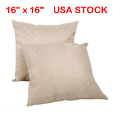 50 x Linen Sublimation Blank Pillow Case Cushion Covers Diy Printing Images Logo