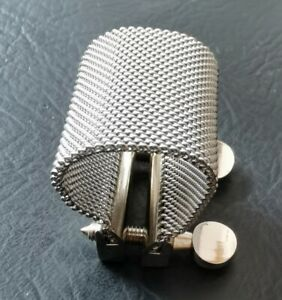 Pro use stainless steel saxophone mouthpiece ligature in wire mesh design