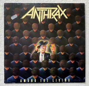 ANTHRAX . among the living LP 1.Press 1987 IMPORT Sodom Metallica Kreator Slayer