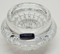 Vintage Gorham Full Lead Crystal Glass Votive Candleholder Nachtmann W Germany