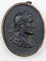GREAT RARITY Wax medal portrait of the Roman emperor Maximinus Thrax